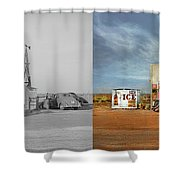 Gas Station - In The Middle Of Nowhere 1940 - Side By Side Shower Curtain