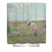 Gathering Flowers, Shinnecock, Long Island, 1897 Shower Curtain