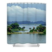 Gatun Lake Islands Shower Curtain