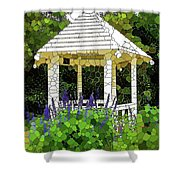 Gazebo In A Beautiful Public Garden Park 3 Shower Curtain