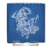 Gear Patent Design Shower Curtain