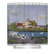 Geese, 1897 Shower Curtain