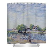 Geese At Saint-mammes Shower Curtain