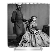 General Custer And His Wife Libbie Shower Curtain