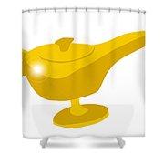 Genie Magic Lamp Shower Curtain