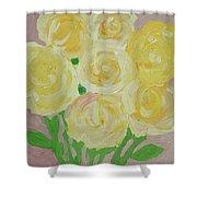 Gentle Yellow Bouquet Shower Curtain