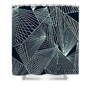 Geometric Pattern 1-colour-6 Shower Curtain