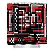 Geometric Stylization 2 Shower Curtain