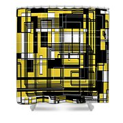 Geometric Stylization 3 Shower Curtain