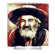 George Gabby Hayes, Vintage Actor Shower Curtain