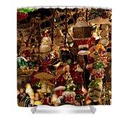German Christmas Ornaments Shower Curtain