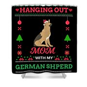 German Shepherd Ugly Christmas Sweater Xmas Gift Shower Curtain