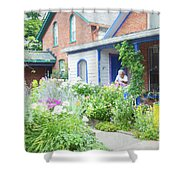 Getting Ready For Buffalo's Garden Walk 2019 Shower Curtain