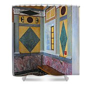 Getty Center Interior Malibu California  Shower Curtain