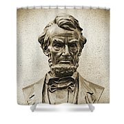 Gettysburg Battlefield - President Abraham Lincoln Shower Curtain