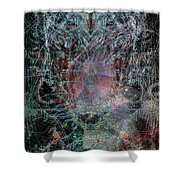 Ghost Galaxy  Shower Curtain