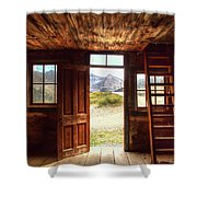Ghost Town Cabin Shower Curtain