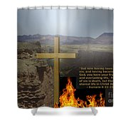 Gift Of God Is Eternal Life Shower Curtain by Charles Robinson
