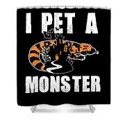 Gila Monster Halloween Venomous Lizard Pet Owner Dark Shower Curtain