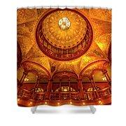 Gilded Age, Flagler College Rotunda, Saint Augustine, Florida Shower Curtain