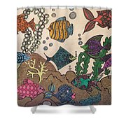 Gils Night Out Shower Curtain