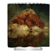 Giant Oak And Full Moon Shower Curtain by Jan Keteleer
