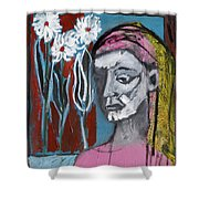 Girl In Pink Shower Curtain