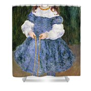Girl With Jumping Rope, 1876 Shower Curtain