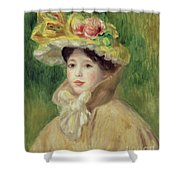 Girl With Yellow Cape, 1901 Shower Curtain