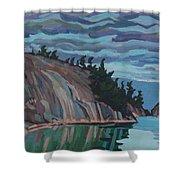 Gitchi-gami Cove Cliff Shower Curtain