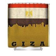 Giza Egypt World City Flag Skyline Shower Curtain