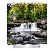 Glade Creek Grist Mill Waterfall Shower Curtain