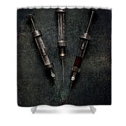 Glass And Steel Trio Shower Curtain