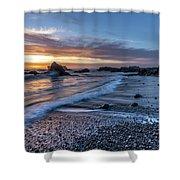 Glass Beach Sunset Shower Curtain