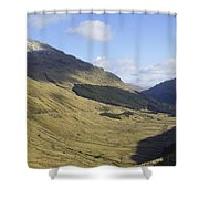 glen in highlands known as  the Rest and be Thankful Shower Curtain