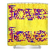 Glitched Love Shower Curtain by Bee-Bee Deigner