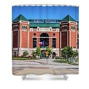 Globe Life Park In Arlington Shower Curtain by Robert Bellomy