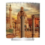 Glories Past And Present,  Rome Shower Curtain