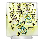 Go-kart Art Shower Curtain