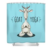 Goat Yoga - Meditating Goat Shower Curtain