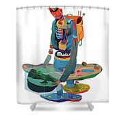 Godd Shower Curtain