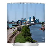Goderich Harbour And Maitland Valley Marina Shower Curtain