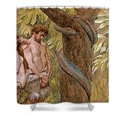 Gods Curse, Adam And Eve Shower Curtain