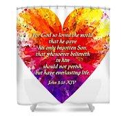 God's Heart Shower Curtain