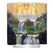 God's Holy Hill Shower Curtain