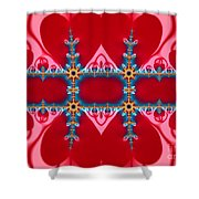 Gods Love And Mercy Is Infinite Fractal Abstract Hearts Shower Curtain by Rose Santuci-Sofranko
