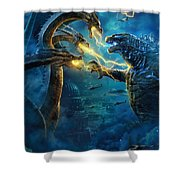 Godzilla II Rei Dos Monstros Shower Curtain