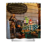 Gogarty And Joyce Statues Two Shower Curtain