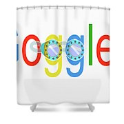 Goggles Logo Shower Curtain
