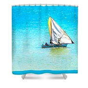 Going For Fish Shower Curtain